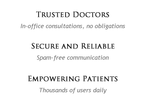 Trusted doctors; secure & reliable; empowering patients
